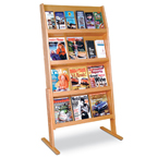 Wood Literature Racks