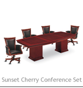 Sunset Cherry Conference Set