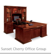 Sunset Cherry Office Group