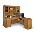 Distressed-Look Oak Office
