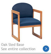 Oak Sled-Based Reception Furniture